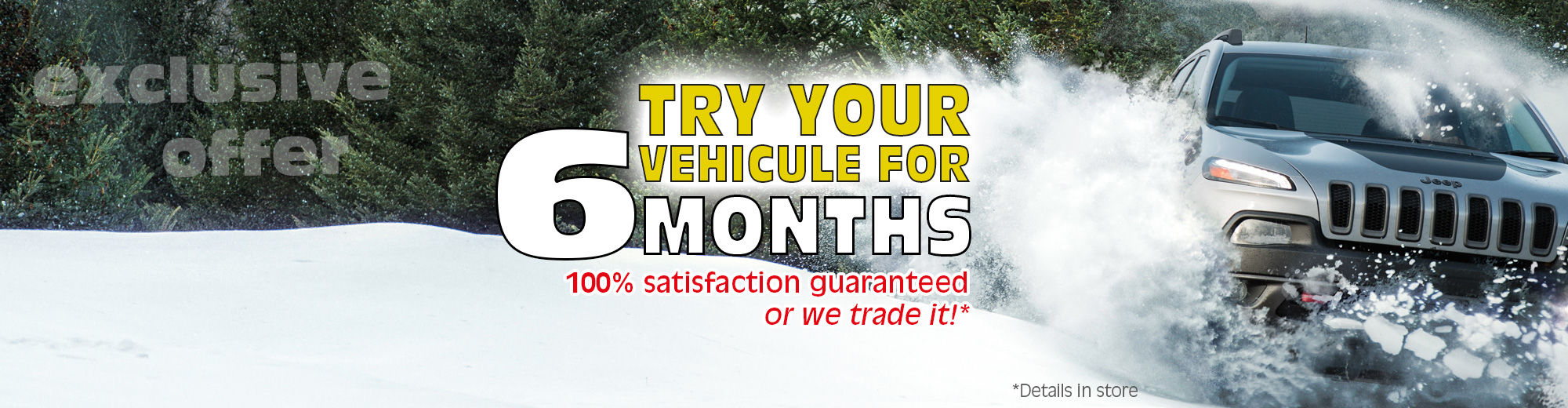 Try your vehicule for 6 months