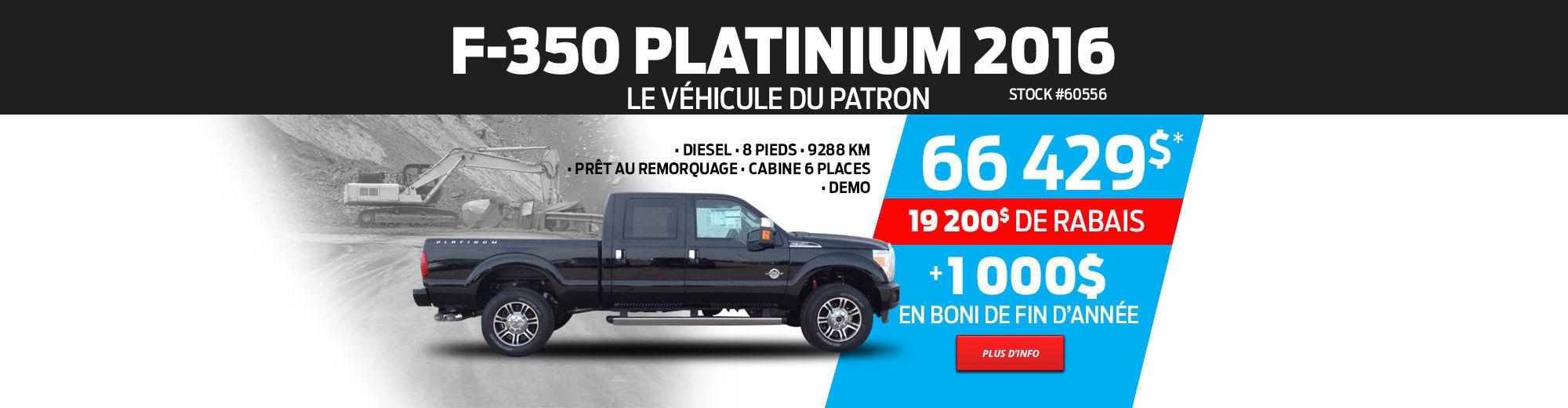 Ford F-350 Platinum Cabine 6 places 2016