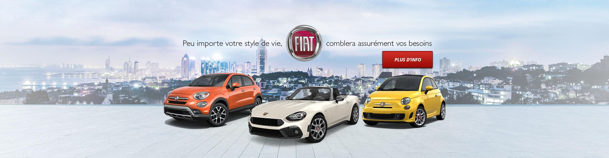 Peu importe votre style de vie, FIAT comblera assurément vos besoins