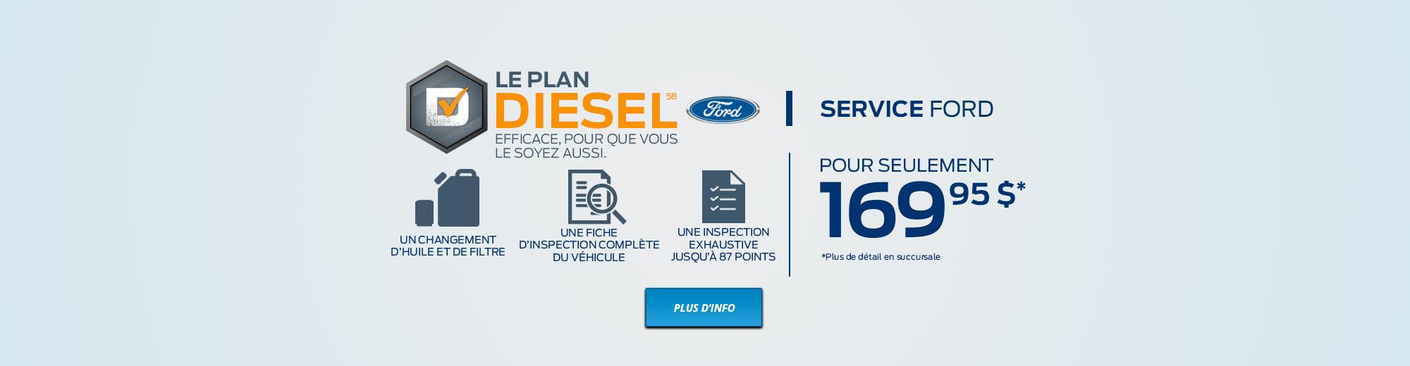 Le Plan Diesel. Efficace, pour que vous le soyez aussi.