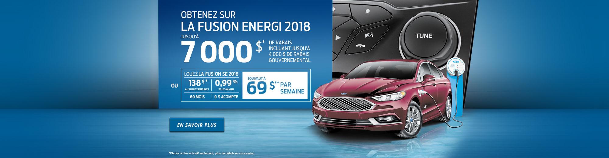 7 000 $ DE RABAIS - Fusion Energi 2018