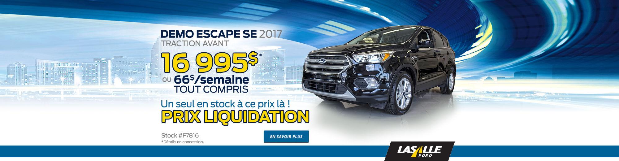 Demo Ford Escape 2017