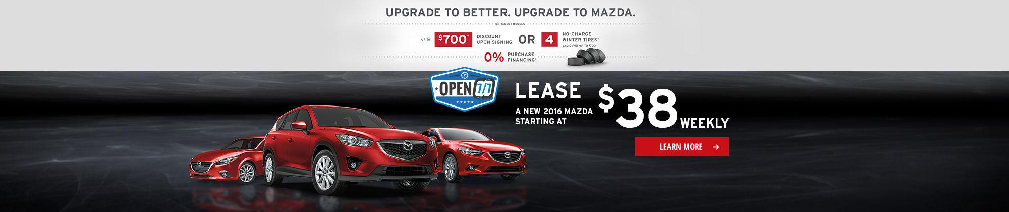 Upgrade To Better. Upgrade To Mazda