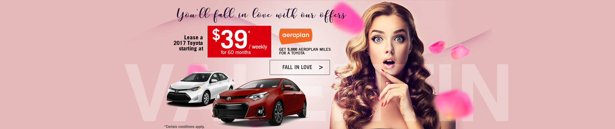 You'll fall in love with our offers-Toyota