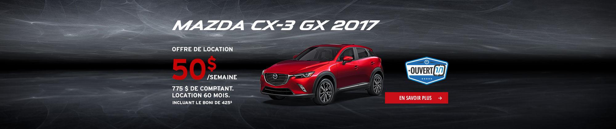 Roulez en Mazda cet été-CX3
