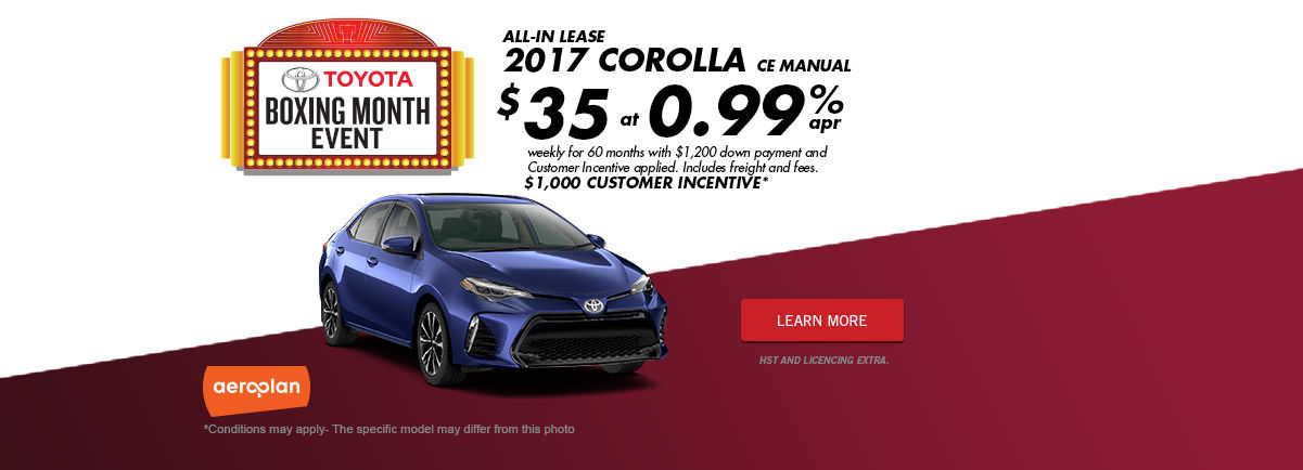 Boxing Month Event ! - Corolla