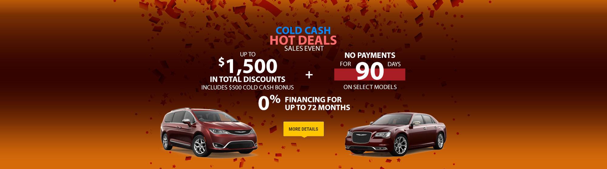 Cold Cash Hot Deals Sales Event - Chrysler