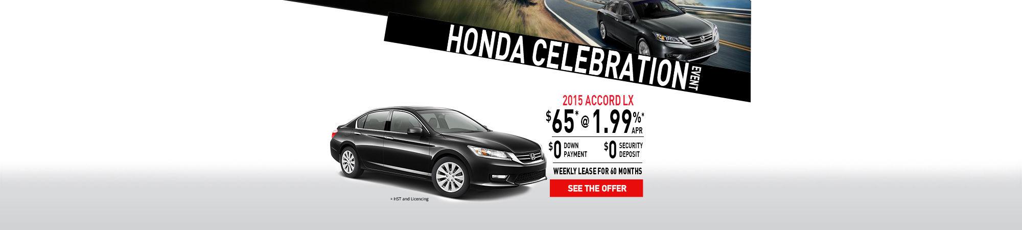 Honda Celebration -2015 Honda ACCORD-February