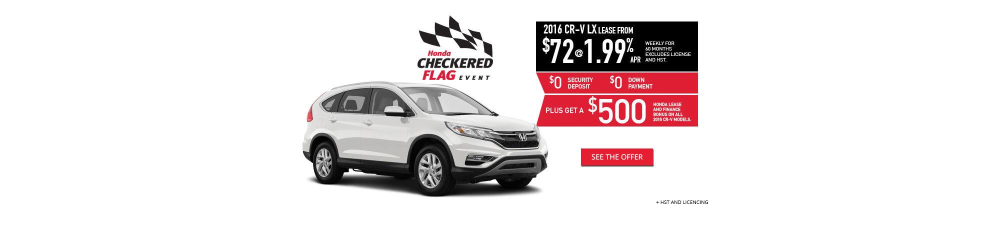 Checkered Flag June Promo CRV