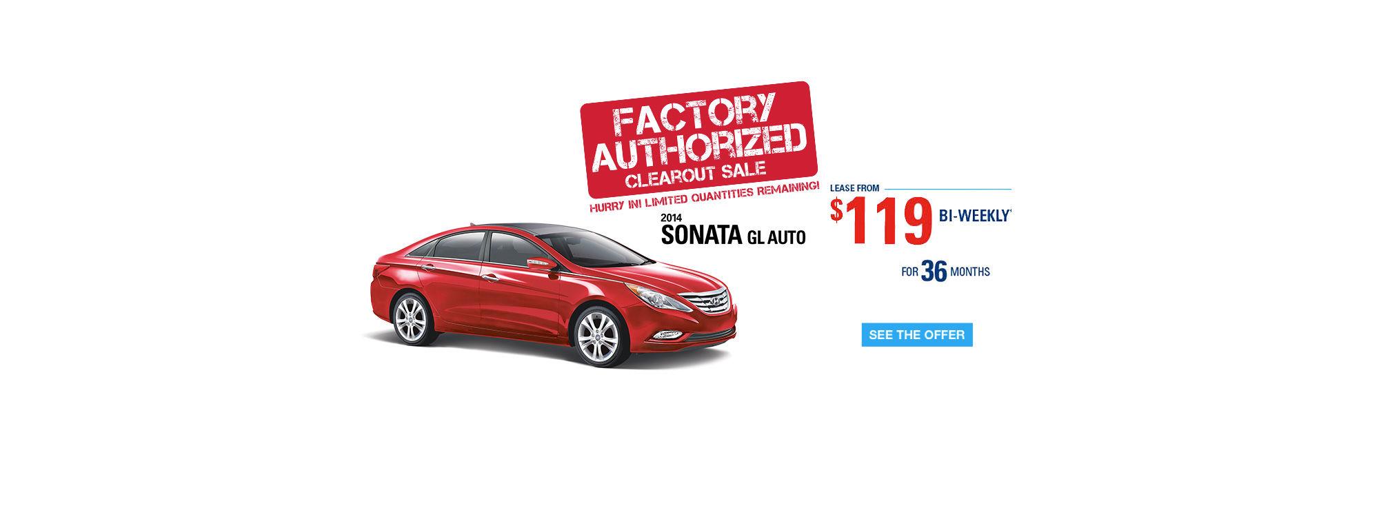 Sonata - Factory Authorized