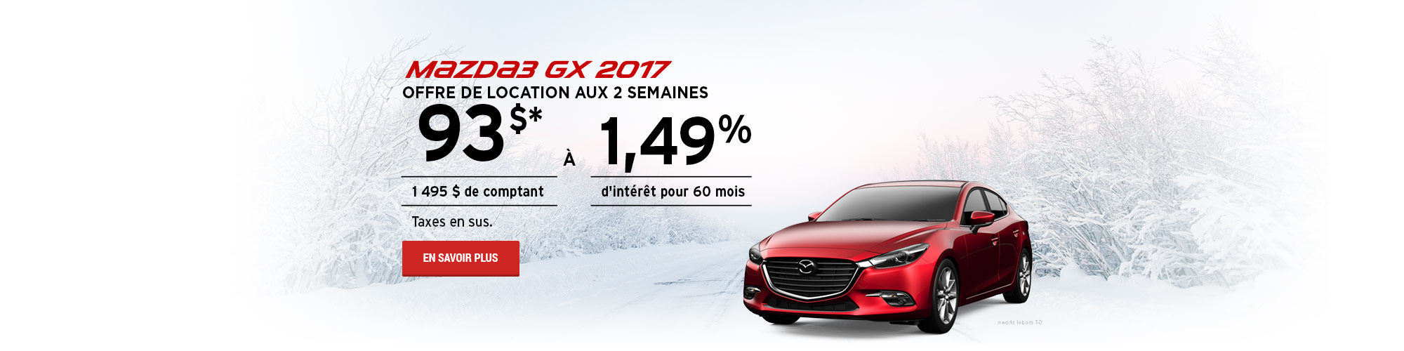 Prenez le contrôle avec la traction intégrale prédictive i-Activ - Mazda3