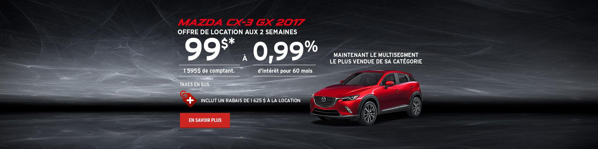 L'événement roulez en Mazda cet été - CX3