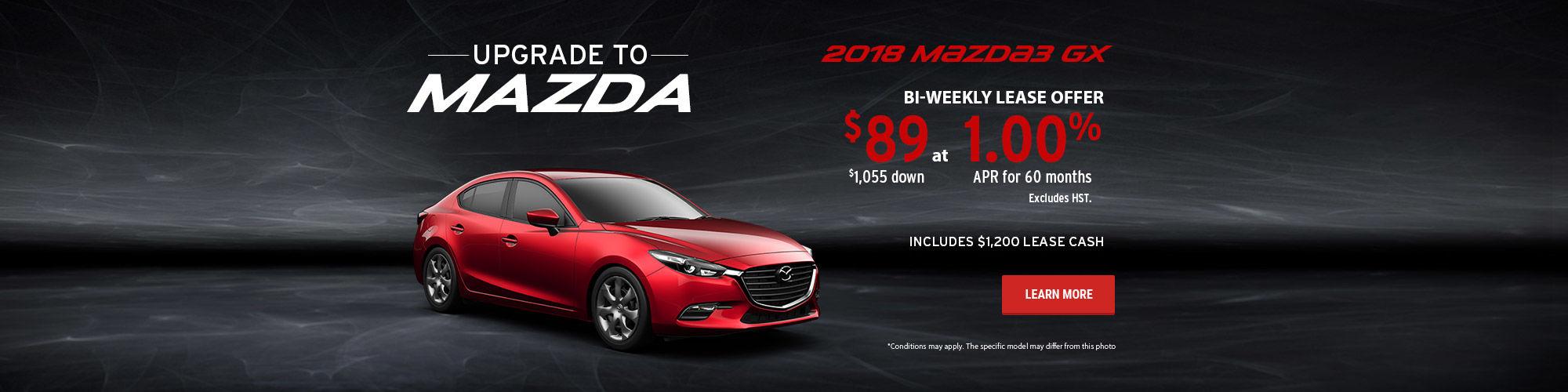 Upgrade to Mazda - Mazda3