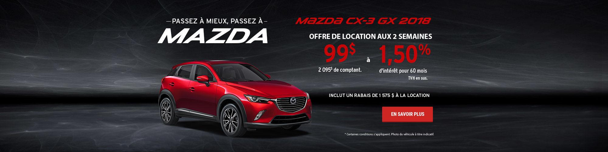 Passez à mieux, passez à Mazda - CX-3