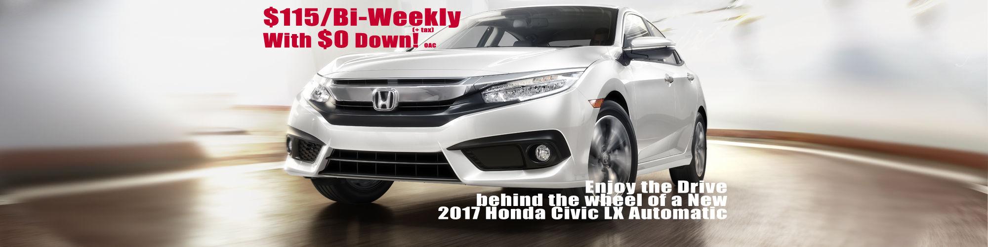 2017 Automatic Honda Civic on Sale!