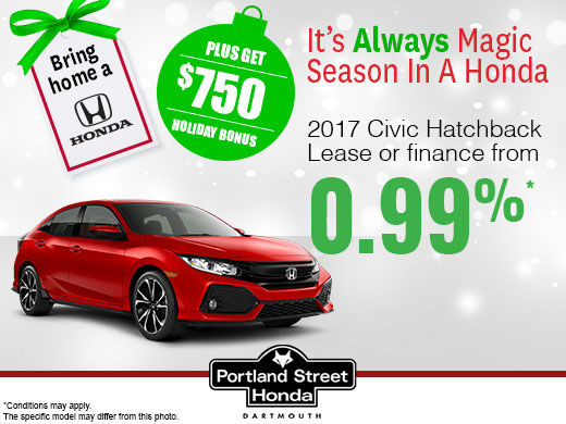 Save on the 2017 Civic Hatchback!