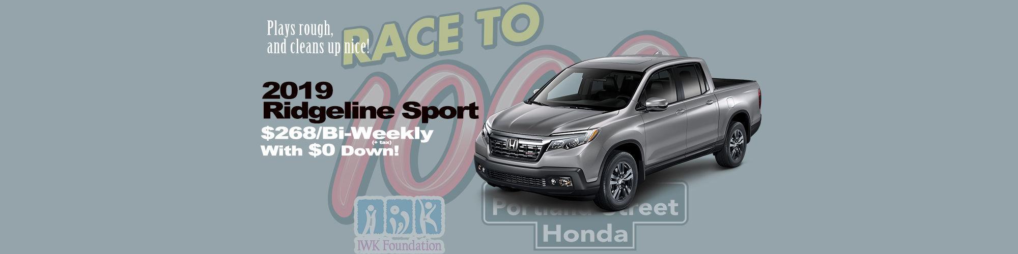 Honda Ridgeline $268/Bi-Weekly