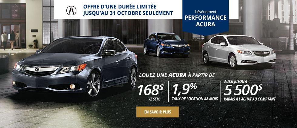 l'événement performance Acura