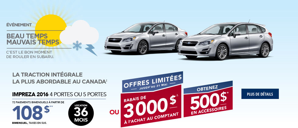 Promo Subaru Mai Impreza