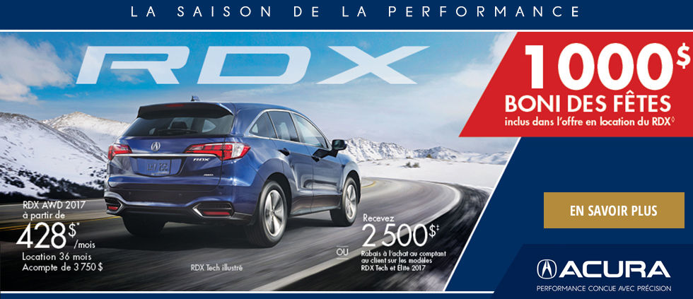 La saison de la performance - RDX