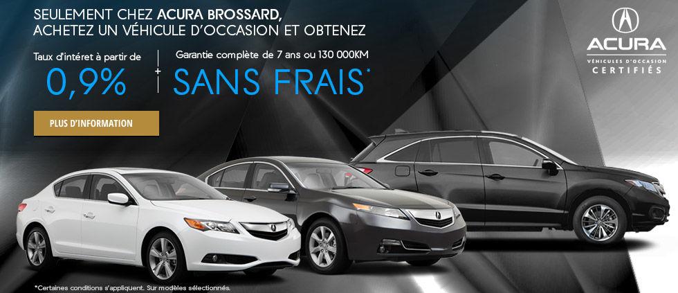 Financez un véhicule Acura d'occasion WEB