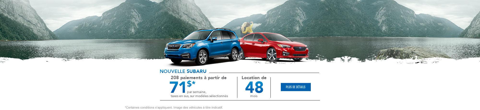Nouvelle Subaru - Novembre