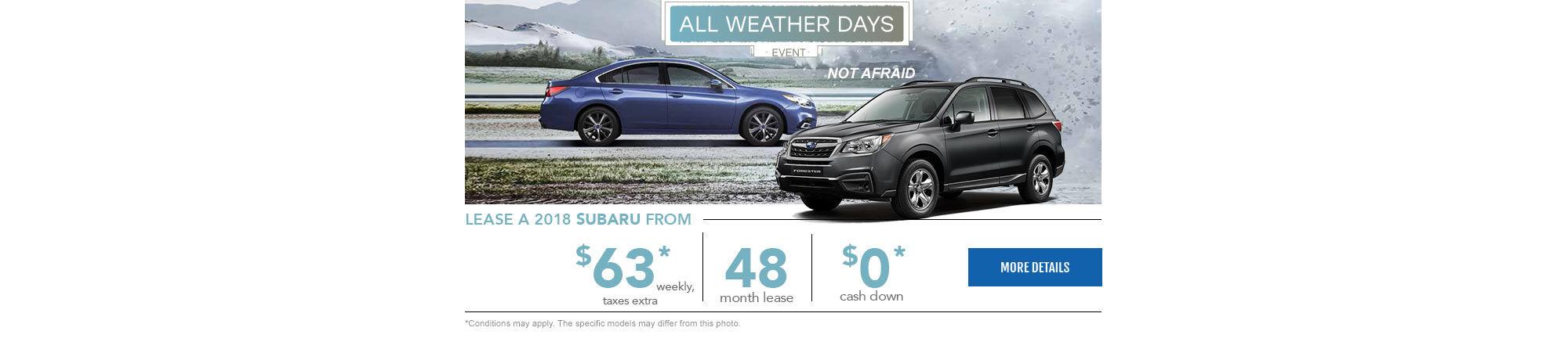 All weather days - Subaru