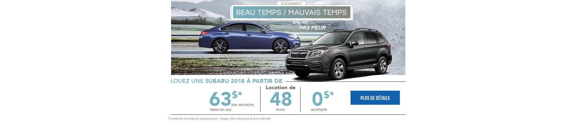 Beau temps / mauvais temps - Subaru