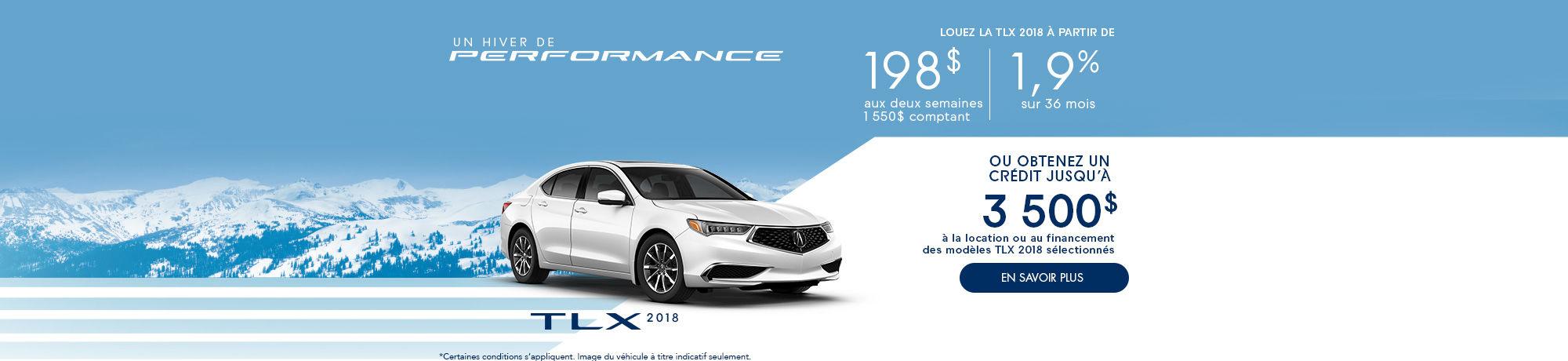 Un hiver de Performance avec Acura! TLX