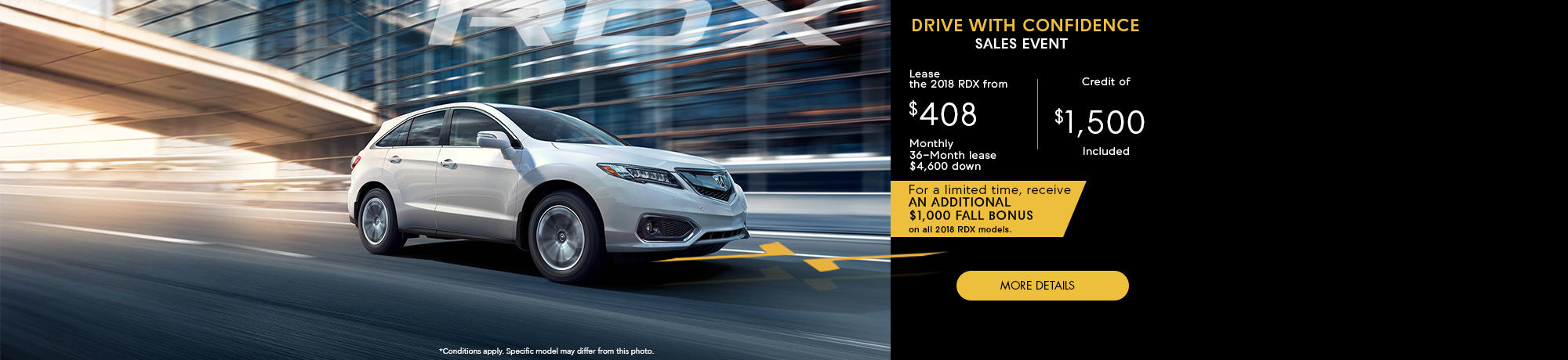 Drive With Confidence Sales Event - RDX - Octobre