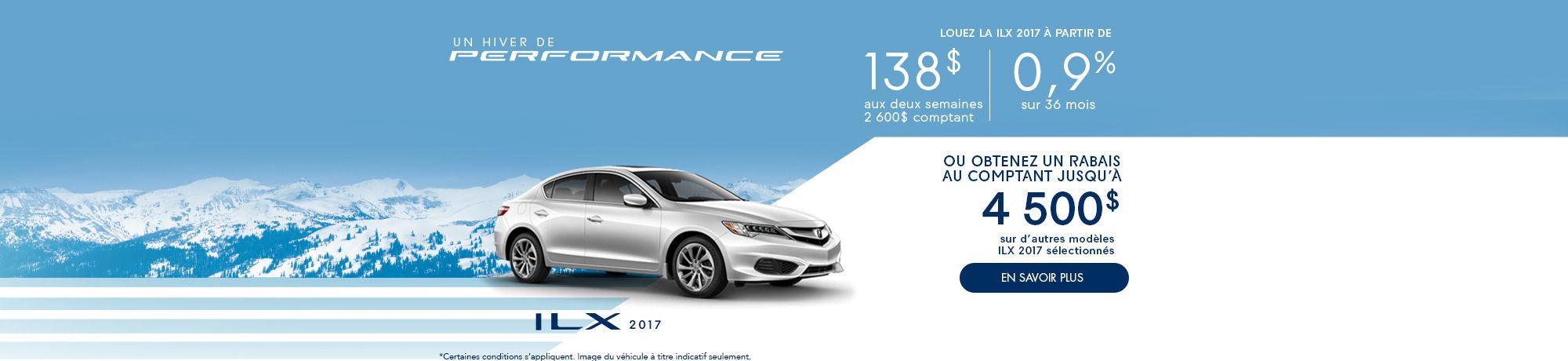 un hiver de Performance avec Acura - ILX