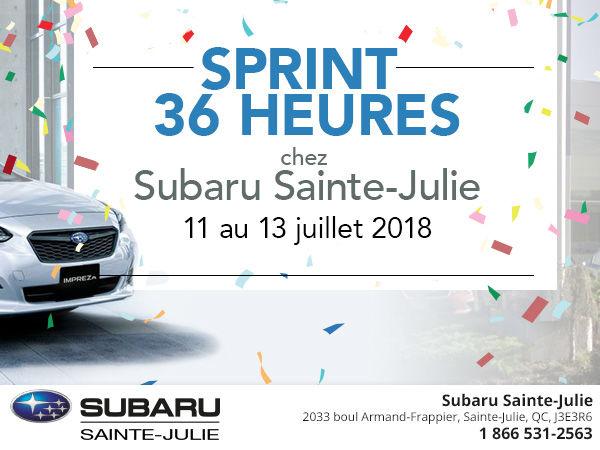 Liquidation des 2018 - Sprint 36 heures!