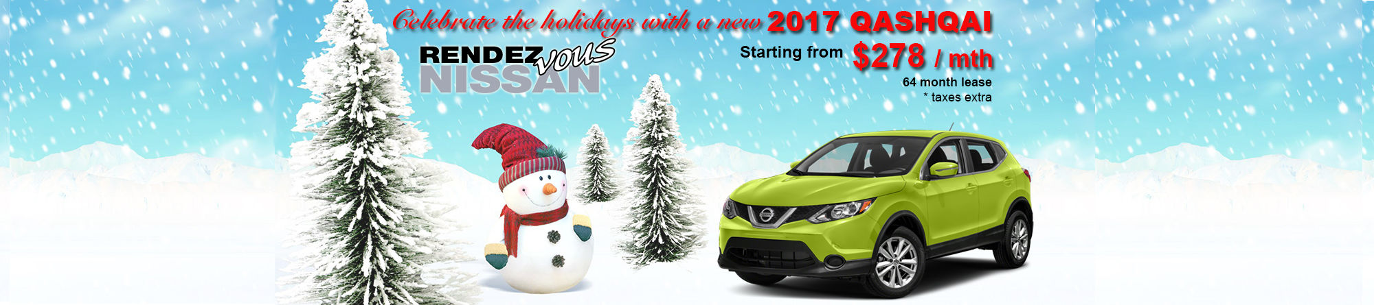 Lease the new 2018 Qashqai