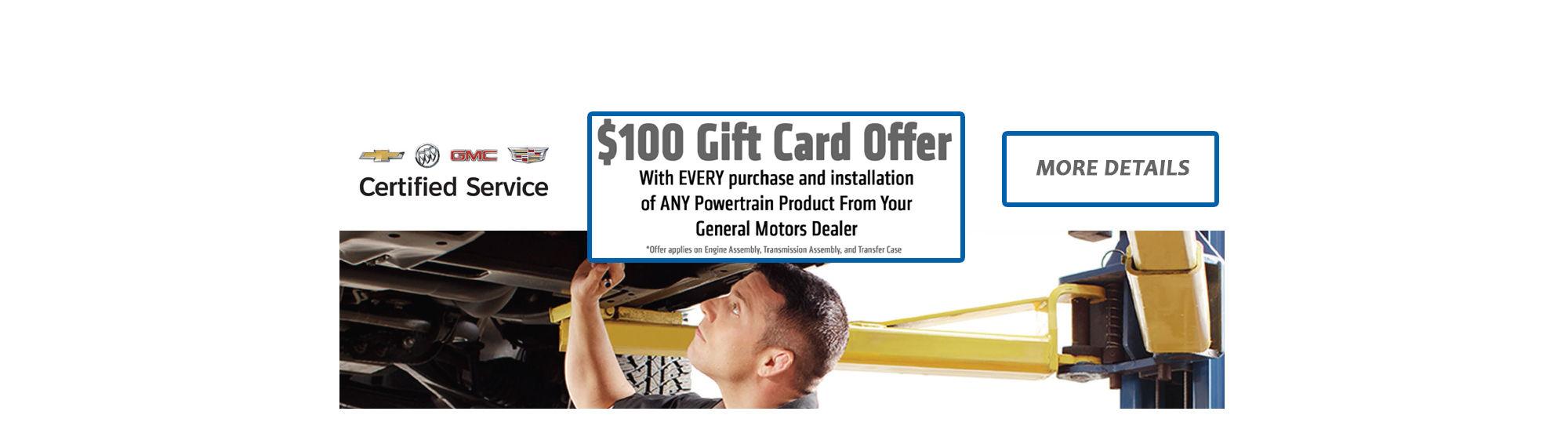 $100 Gift Card Slider