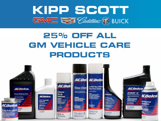 25% Off GM Vehicle Care Products