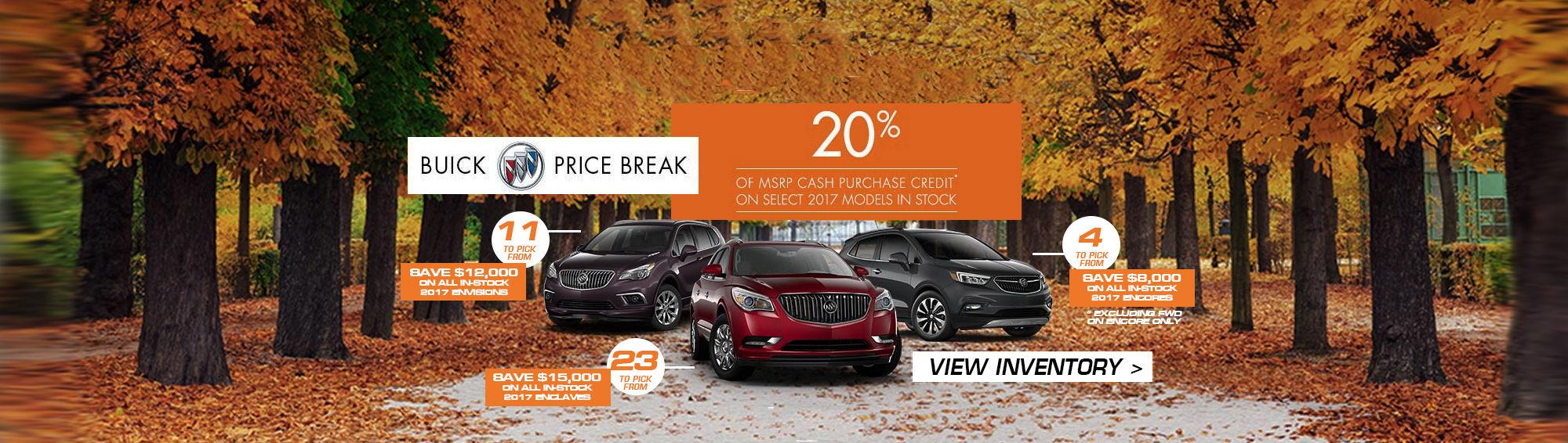 Buick 20% Off MSRP Oct 2017 (Desktop)