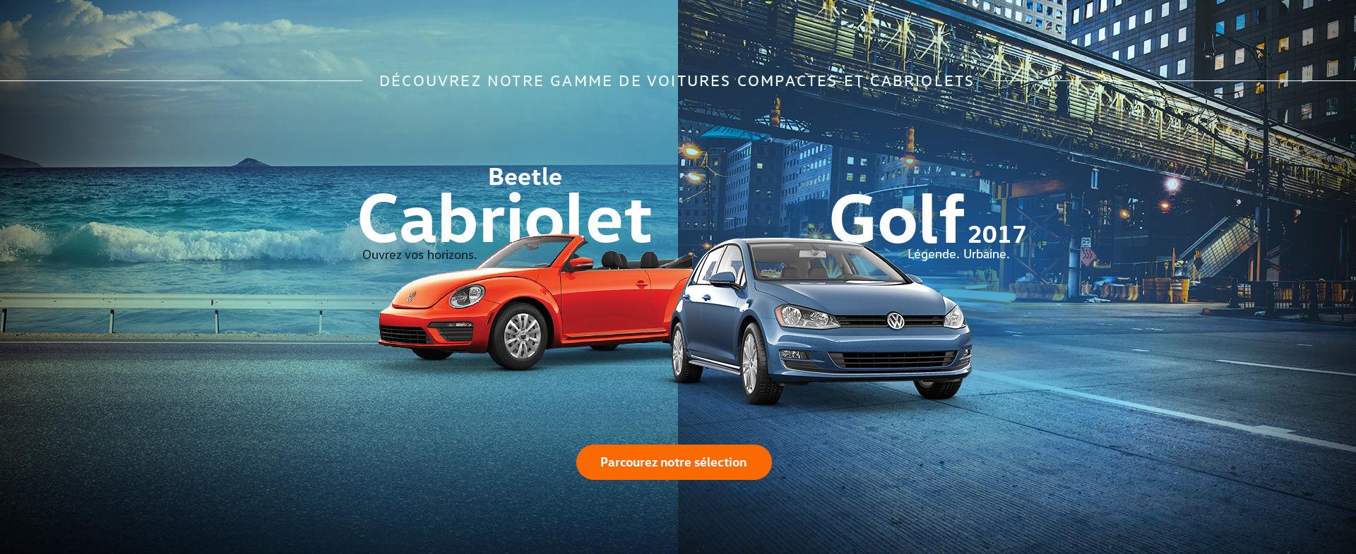 Découvrez notre gamme de voitures compactes et cabriolets