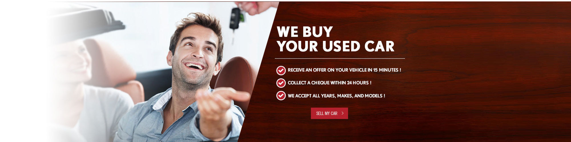 We buy your used car