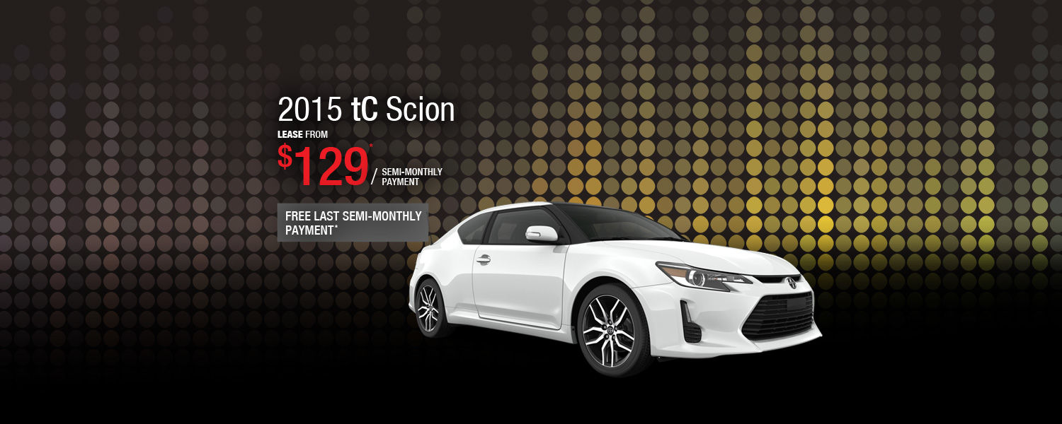 Lease the 2015 Scion tC from $129 / semi-monthly payment