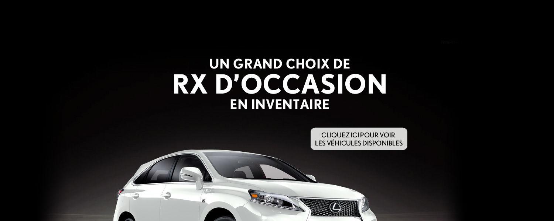 Grand choix de RX d'occasion en inventaire