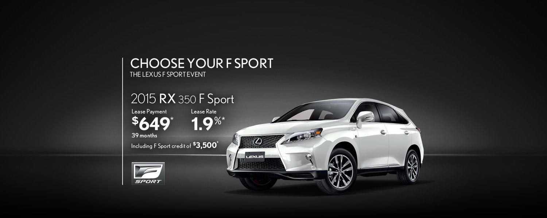 2015 Lexus RX - March Promotion
