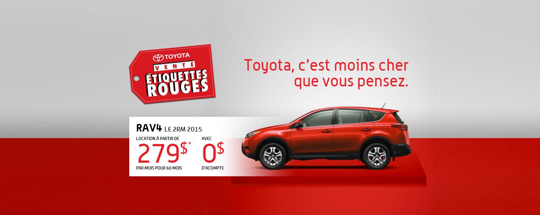 Toyota RAV4 2015 - Promotion Étiquettes rouges