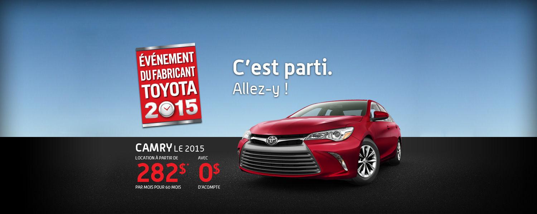 Toyota Camry 2015 - Événement du fabricant 2015