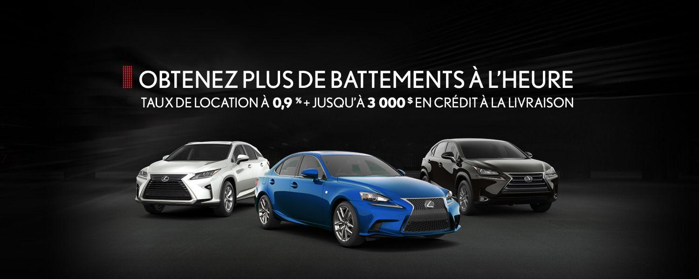 Promotion Lexus - Juillet