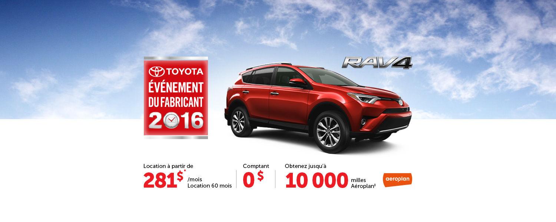 l'Événement du Fabricant Toyota - Juillet