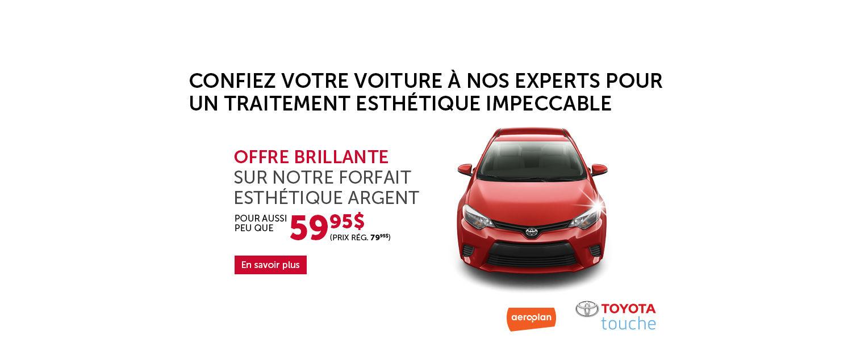 Promotion esthétique Toyota