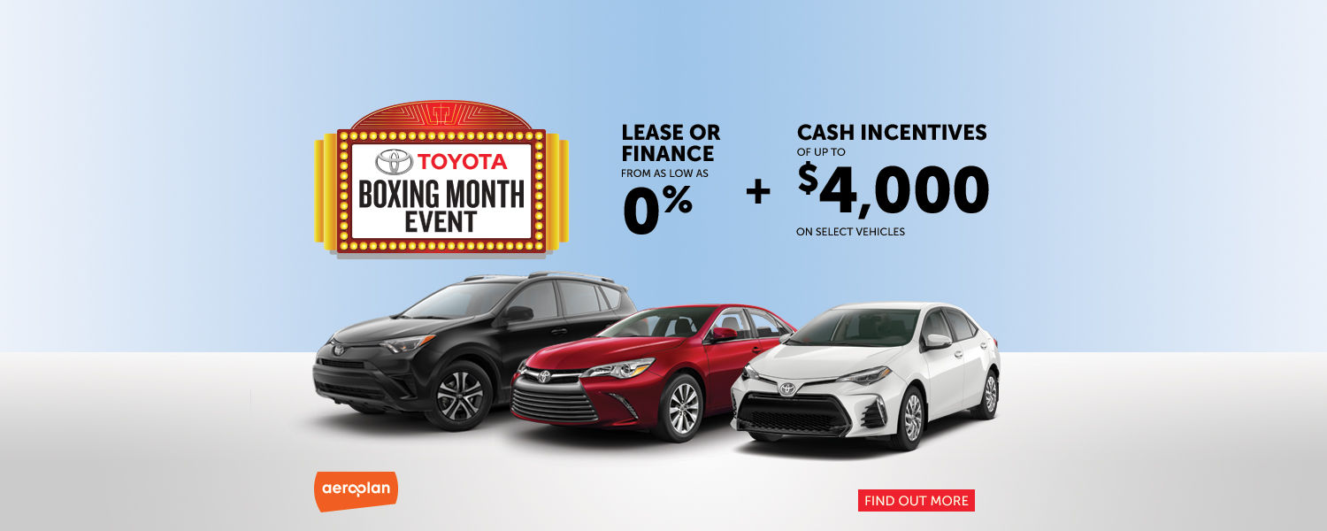 Toyota Boxing Month Event - Spinelli Toyota
