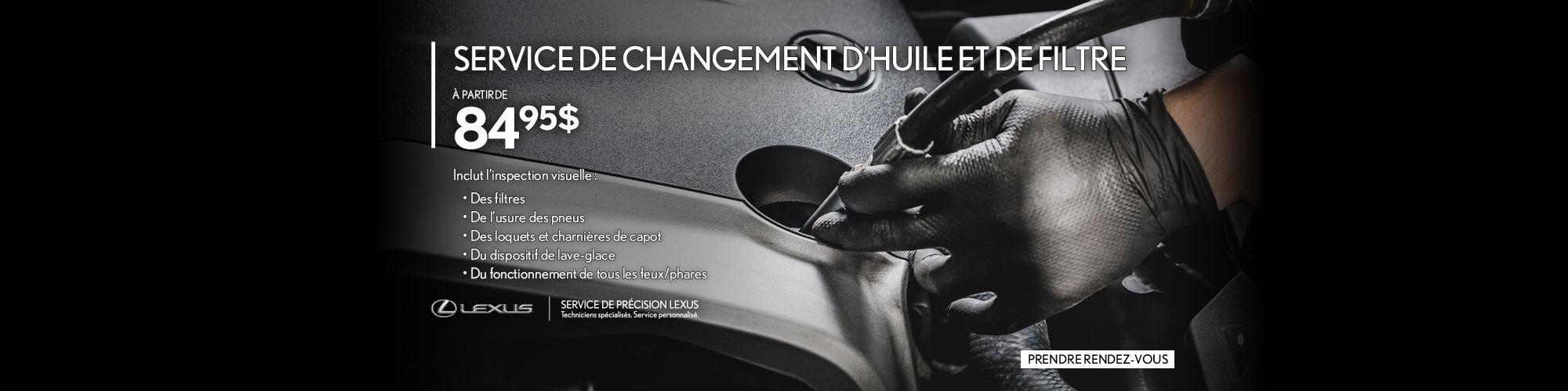 Service Changement d'huile Lexus