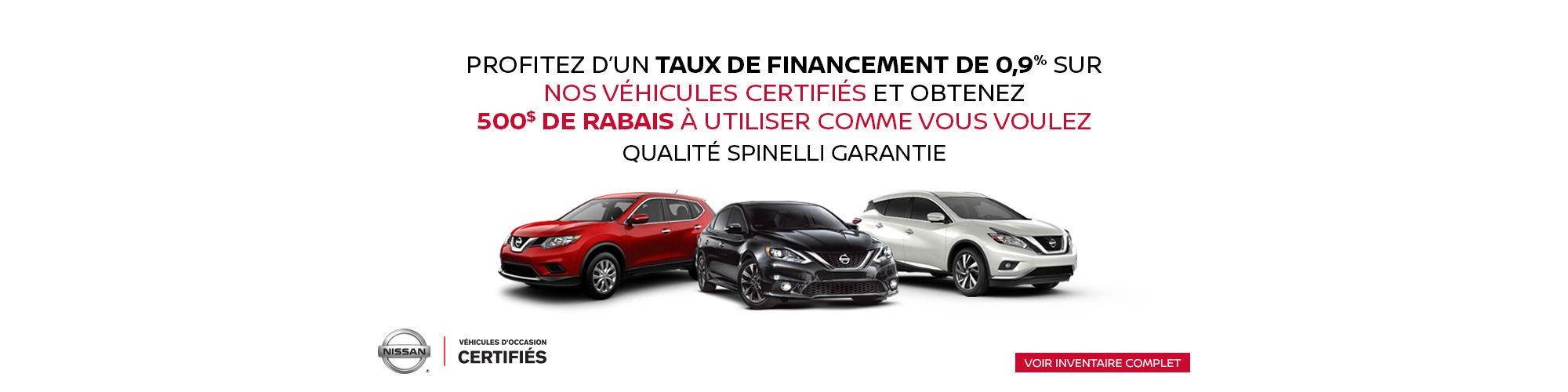 Nissan Véhicules d'occasion Certifiés
