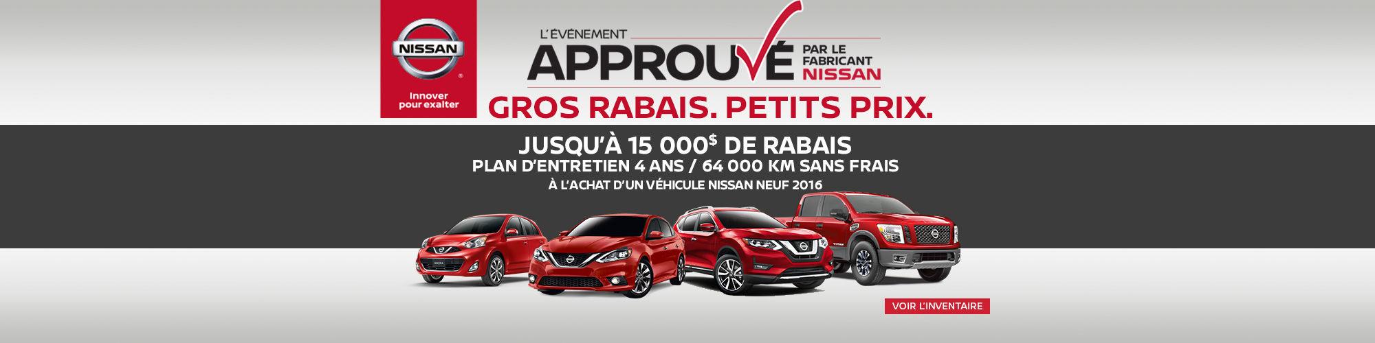 Plan de maintenance sans frais - Nissan
